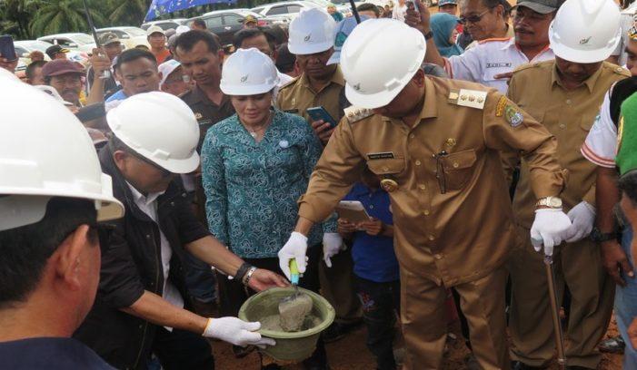 Bupati Letakkan Batu Perdana Pembangunan Pabrik PKS PT ISL