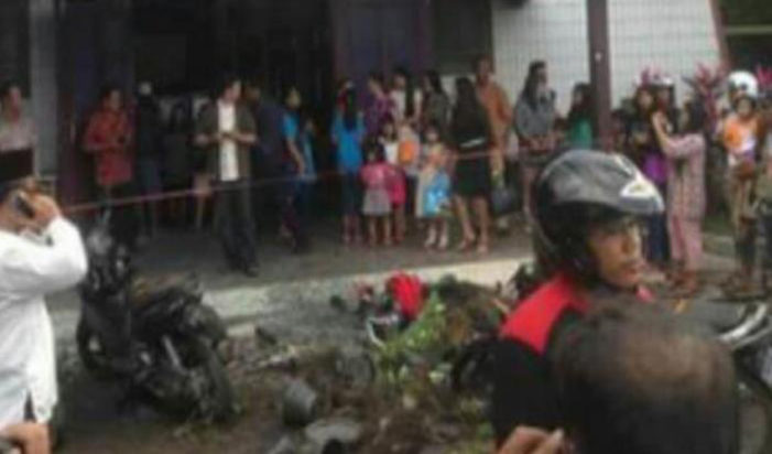 Bom Meledak Di Gereja, Balita Alami Luka Bakar