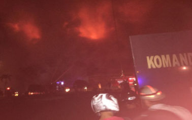 FOTO: Penampakan Kobaran Api Yang Membakar Pomdam