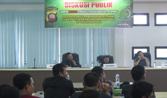 Korupsi Marak, GASAK Gelar Diskusi Publik