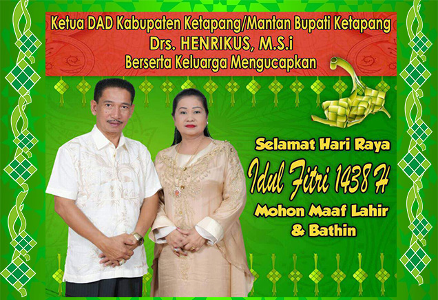 Iklan Idul Fitri Drs Henrikus M.Si