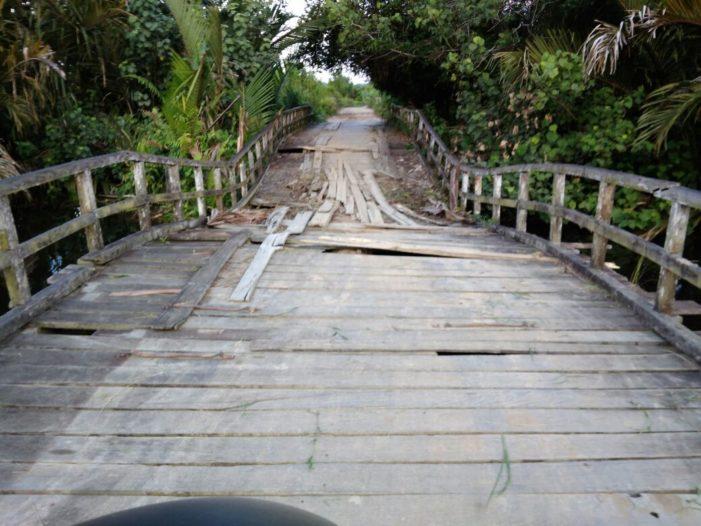 Tiga Tahun Jembatan Sungai Seponti Rusak