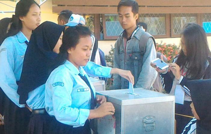 Pemilihan OSIS di SMKN I Mirip Pemilihan Umum