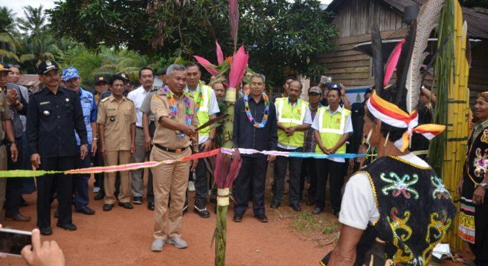 Akhirnya Tiang Listrik Di Desa Lanjut Mekar Sari Berdiri Tegak