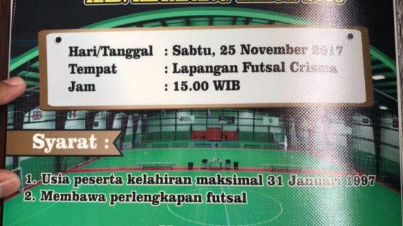 Pengurus Futsal Porprov Ketapang Gelar Seleksi Pemain