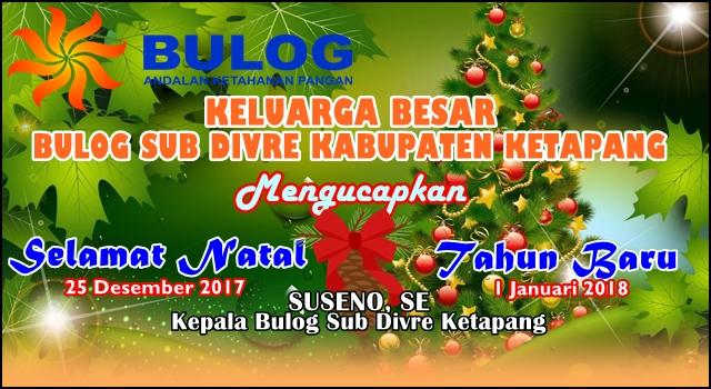 Iklan Natal dan Tahun Baru Bulog Ketapang