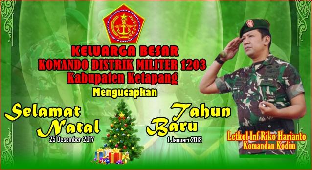 Iklan Natal dan Tahun Baru Kodim 1203