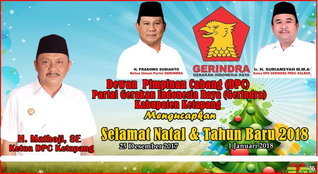 Iklan Natal dan Tahun Baru Gerindra