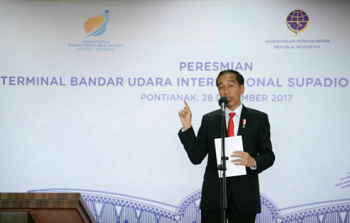 Presiden Jokowi Resmikan Terminal Baru Bandara Supadio