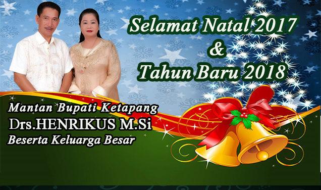 Iklan Natal dan Tahun Baru Drs Henrikus M.Si