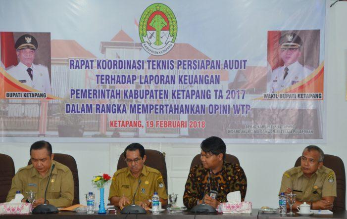 Pertahankan Opini WTP, Pemkab Gelar Rakor Teknis Persiapan Audit LKPD Tahun 2017
