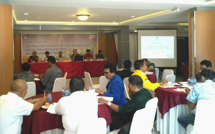 KPU Gelar Uji Publik Rancangan Penataan Dapil Ketapang