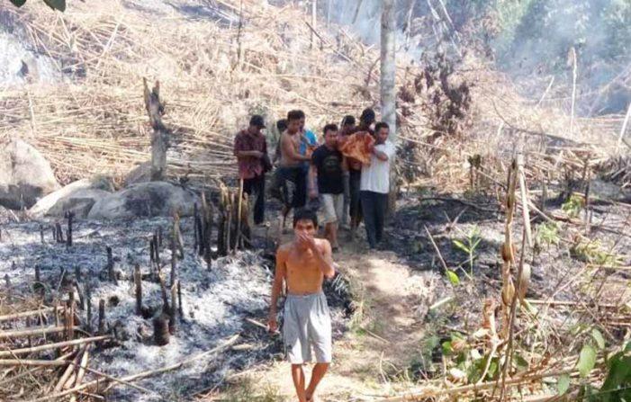 Terkepung Api, Warga Sukadana Tewas Terbakar