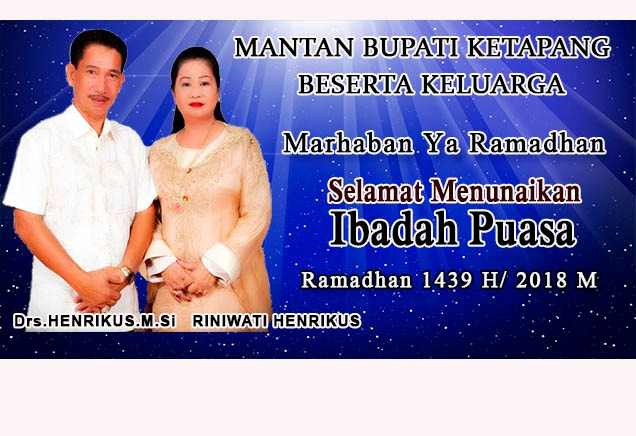 Iklan Ramadhan Mantan Bupati Drs Henrikus M.Si
