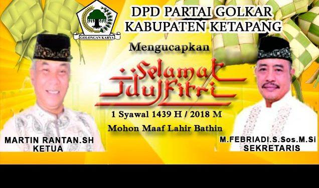 Iklan Idul Fitri DPD Golkar Ketapang
