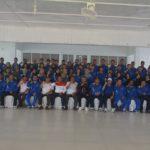 Bupati Martin rantan SH dan kepala Dinas pemuda dan Olah raga Sahat Sirait bersama kontingen POPDA Kabupaten Ketapang dipendopo Bupati Ketapang