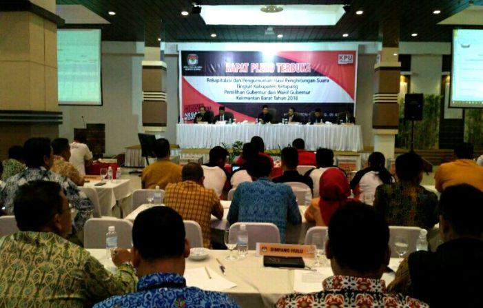 KPU Ketapang Gelar Rapat Pleno Penghitungan Suara Pilgub