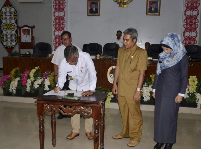 Bupati dan Pimpinan DPRD Tandatangani Kesepakatan Rancangan KUA PPAS APBD-Perubahan TA 2018