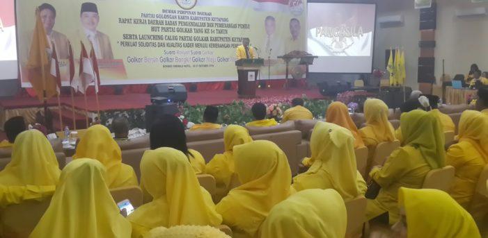 Ketua DPD Golkar Ketapang Buka Rakerda Bappilu