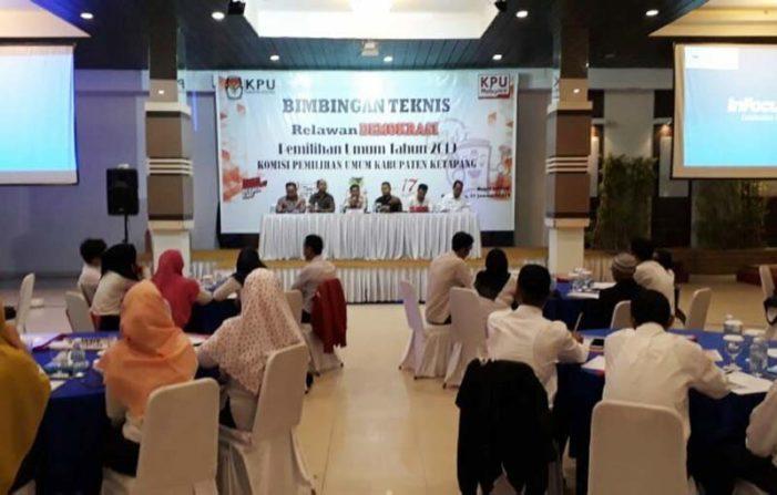 KPU Ketapang Gelar Bimtek Relawan Demokrasi Pemilu 2019