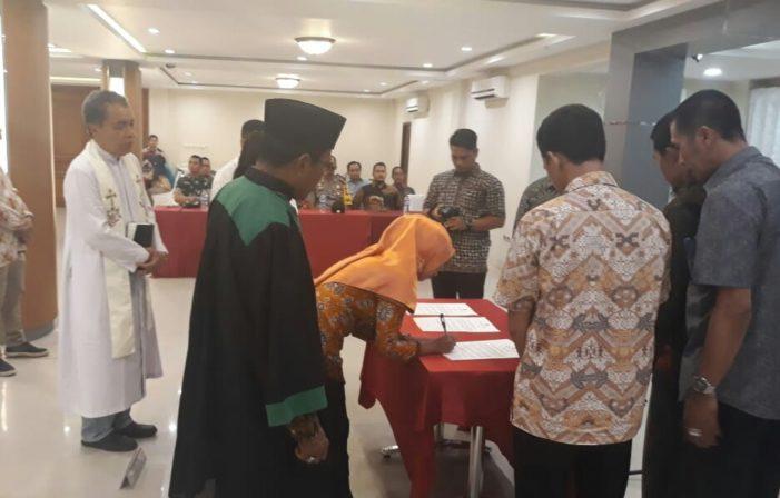 KPU Ketapang Lantik 40 Anggota PPK Tambahan Pasca Putusan MK