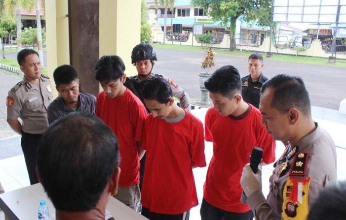 Polisi Tangkap Lima Pelaku Narkoba di Ketapang