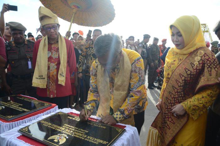 Jembatan Kuning Kyai Mangku Negeri Resmi Difungsikan