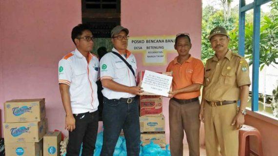 BGA Salurkan Bantuan Untuk Korban Banjir Nanga Tayap