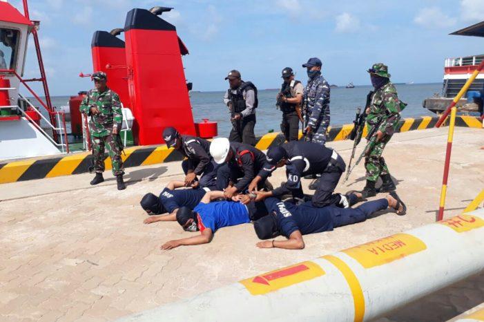 Terminal Khusus PT WHW AR Gelar Latihan Gabungan Bersama TNI- Polri dan Instansi Terkait