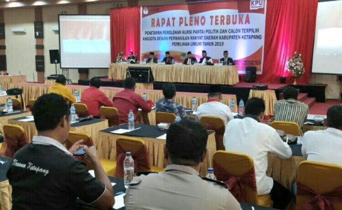 Pleno KPU: Berikut 45 Calon Terpilih Anggota DPRD Ketapang