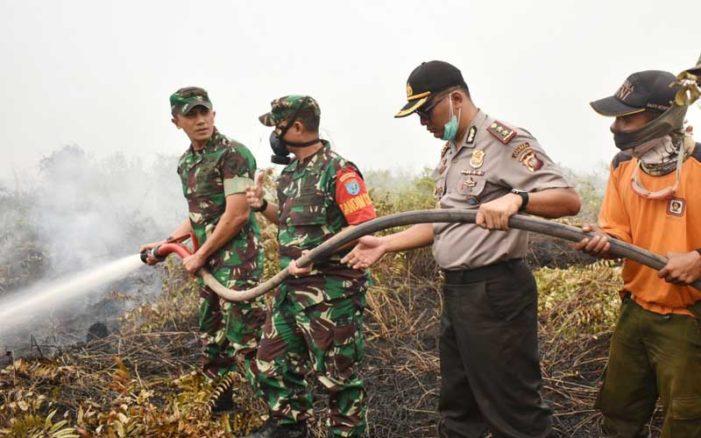 Komandan Korem Tinjau Lokasi Karhutla Desa Pelang