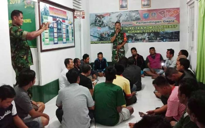 HUT TNI, Koramil Simpang Hilir Gelar Konsos Kreatif