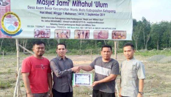 GGD Nisel Bantu Pembangunan Masjid Jami Miftahul Ulum Manis Mata