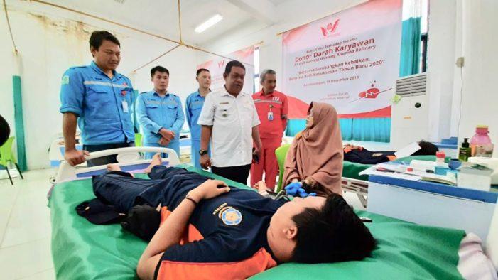 Ratusan Karyawan PT WHW Bantu Persediaan Darah Untuk Empat Rumah Sakit di Ketapang