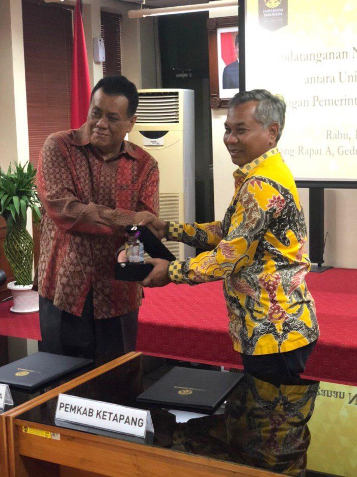 Pemkab Ketapang Tandatangani Nota Kesepakatan Dengan Universitas Indonesia