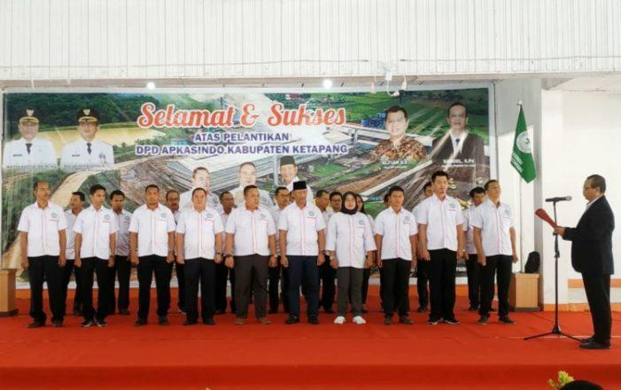 Pengurus DPD Apkasindo Ketapang Dilantik