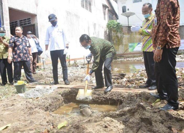 Pj Sekda Letakan Batu Pertama Pembangunan Galeri dan Rumah Produksi