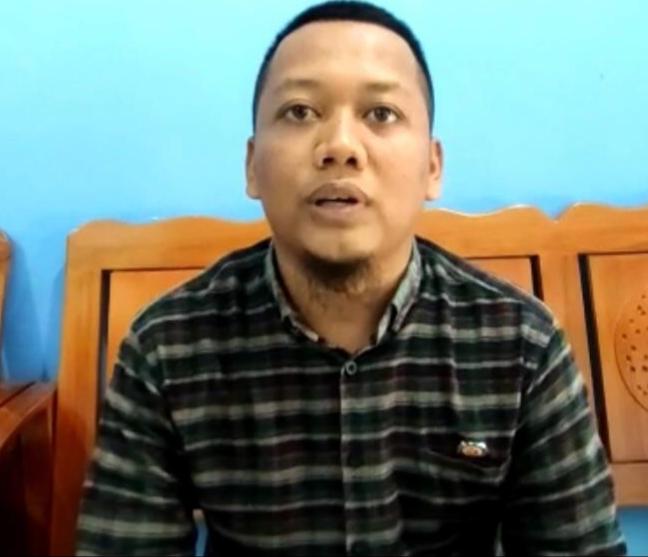 Ketua Panwaslu Kecamatan Delta Pawan, Theo Bernadhi