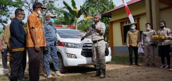 Mobil Siaga Desa Karya Mukti Diresmikan Bupati
