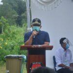 Plt Bupati Suprapto saat menghadiri simulasi pemungutan suara Ia Berpesan Masyarakat Jangan Golput