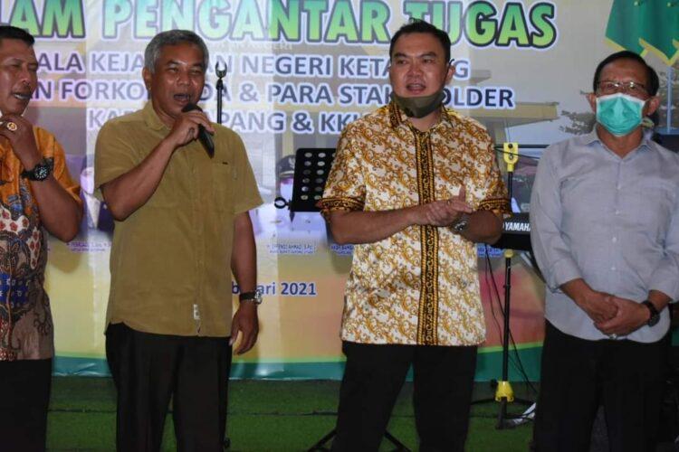 Bupati Ketapang Martin Rantan, SH.,M.Sos hadiri acara Malam Pengantar Tugas Kepala Kejaksaan Negeri