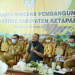 Ketua DPRD M.Febriadi saat menghadiri Program Food Estate.