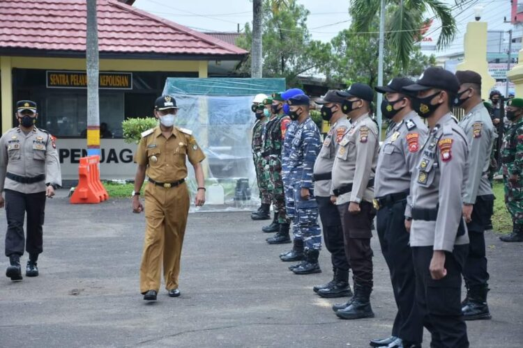 Wakil Bupati Ketapang lakukan pememeriksaan persiapan pasukan