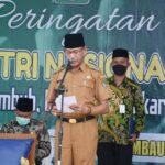Wakil Bupati Ketapang H. Farhan, SE.,M.Si memimpin Upacara Peringatan Hari Santri Nasional tahun 2021
